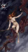 A Fairy Under Starry Skies -Luis Ricards Falero