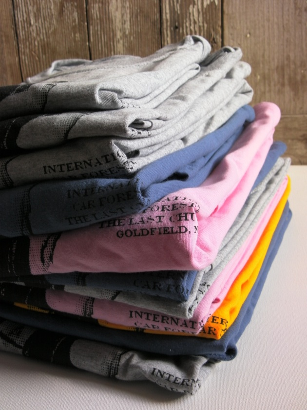 Car Forest T shirts Stacked