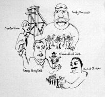 Teddy Vs. Wobblies Sketch