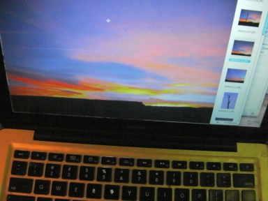 Sunset Laptop