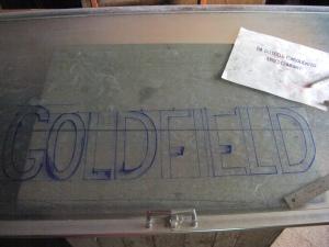 Goldfield Train Letters