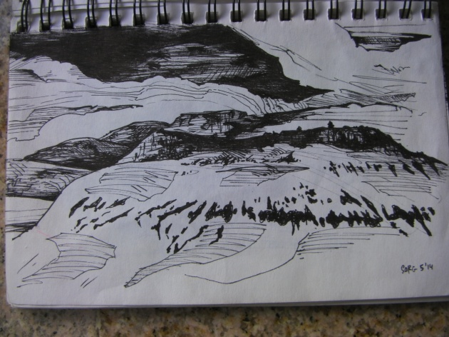 Drawing Hillside
